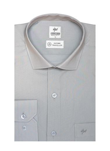 IGS Erkek A.Grı Regularfıt / Rahat Kalıp 7 Cm Klasık Gömlek Gri